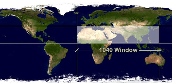 The 10 40 window for 1040 window countries list